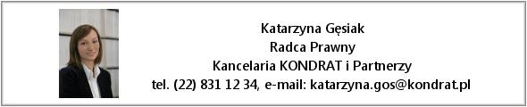 Katarzyna Gęsiak - Radca Prawny, KONDRAT i Partnerzy